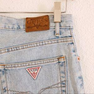 """Vintage 90's GUESS jeans denim shorts 30"""" waist"""